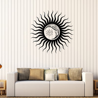 Vinyl Wall Decal Sun Moon Dreams Bedroom Decoration Stickers Unique Gift (380ig)