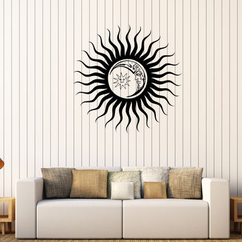Vinyl Wall Decal Sun Moon Dreams Bedroom Decoration Stickers (380ig)