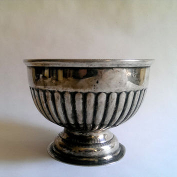 PSL Sheffield England Silver Plated Bowl/ Antiqie Sheffield Planter/ Silver Plated /Footed Bowl/ Vintage Silver Planter