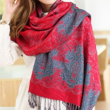 Fashion Women's Ethnic Scarf Cape Wrap Shawl