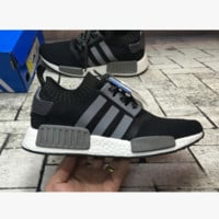 """ADIDAS"" Trending Fashion Casual Sports Shoes Black(Grey Line)"