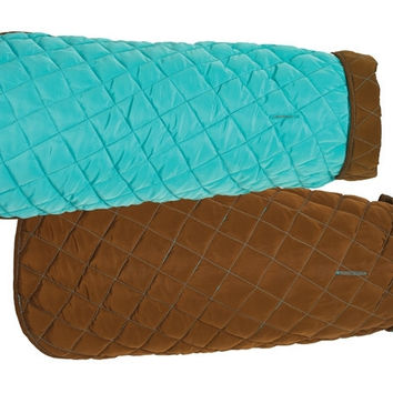 Aqua/Brown Diamond Quilted Coat