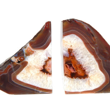 Brown Agate Bookends