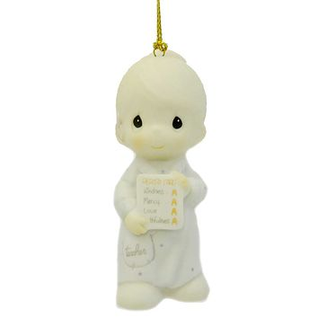 Precious Moments YOURE A NUMBER ONE IN MY BOOK Porcelain Ornament 150142