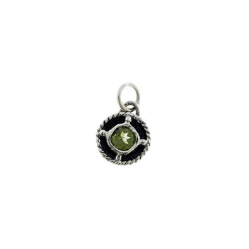Kamon Sterling Silver And Peridot August Charm