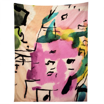 Ginette Fine Art Pink Twink Abstract Tapestry
