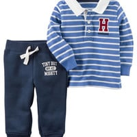 2-Piece Rugby Polo and Jogger Set