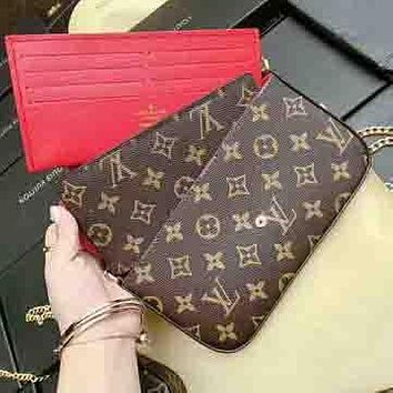 LV Louis Vuitton Women's Exquisite Fashion Three Piece Leather Shopping Bag F
