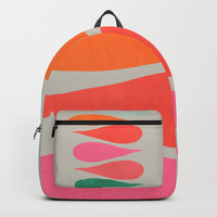 Vintage minimal improvisation Backpack by vivigonzalezart