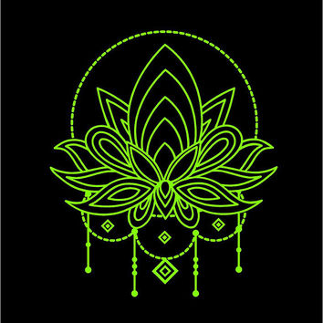 Lotus Flower Decal Mandala decal Lotus Flower Tattoo decal Lotus flower car decal Laptop decal car decal boho decal laptop decal custom