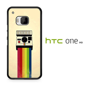 Polaroid Camera Colorful Rainbow HTC One M9 Case