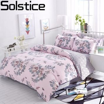 Solstice Cotton Pastoral Flower Cartoon Style Fashion Bedding Bed Linen Bed Sheet Duvet Cover Pillowcase 4pcs Bedding Sets/Queen