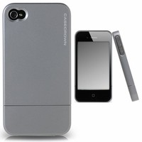 CaseCrown Metallic Glider Case for Apple iPhone 4 and 4S (AT&T, Sprint, & Verizon compatible) - Silv