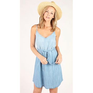 Bella Dahl Belted Smocked Back Dress Silverlake