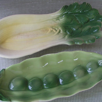Vintage Serving Dishes, Pea and Celery Style Condiment  Pair of Serving dishes, very charming