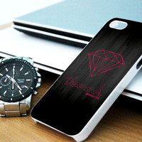 Pink Diamond Supply Co Dark Wood iPhone 4/4S / 5/ 5s/ 5c case, Samsung Galaxy S3/ S4 case, iPod Touch 4 / 5 case