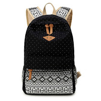 Black Ethnic Unique Backpack School Bookfashion bag Travel fashion bag