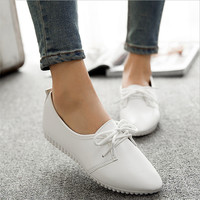 Women casual shoes 2016 spring and summer shoes, flat shoes wild, pure light color mouth female shoes
