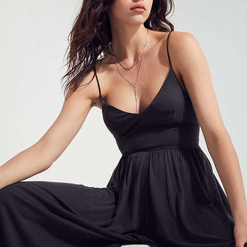 Silence + Noise Molly Cupro Culotte Jumpsuit   Urban Outfitters