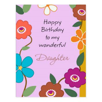Happy Birthday Flowers Postcard