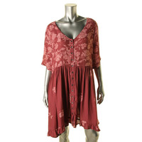 Free People Womens Oversized Knee-Length Casual Dress