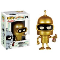 Futurama Pop! Vinyl Figure - Gold Bender : Forbidden Planet