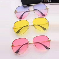 Gucci Summer Popular Women Delicate Bee Shades Eyeglasses Glasses Sunglasses(4-Color) I-TMWJ-XDH