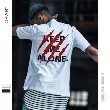 keep me alone Summer Fashion Short Sleeve Top  [10511257987]