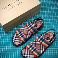 18SS Burberry Rainbow Vintage Check Classic Leisure Sandals #2- Best Online Sale