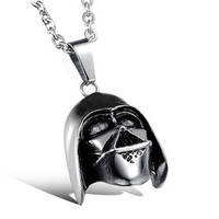 Star Wars Darth Vader Pendant Stainless Steel Necklace