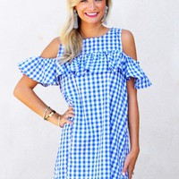 Easy Like Sunday Morning Dress in Royal | Monday Dress Boutique
