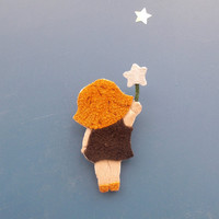 Doll Brooch Fabric Pin Miniature Dollhouse Art Doll Leather brooch brooches for kids for woman