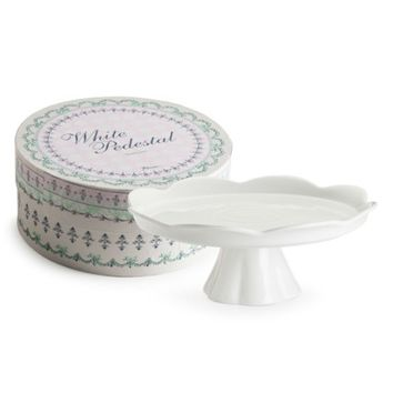 Large White Pedestal Cake Stand in Gift Box 24833