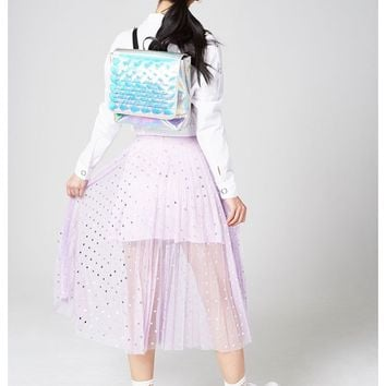 Bianca Mermaid Scale Holographic Backpack