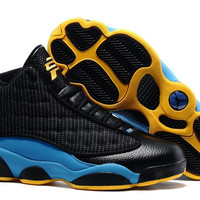 Men's Nike Air Jordan 13 Retro CP3 Chris Paul Away Black Orion Blue