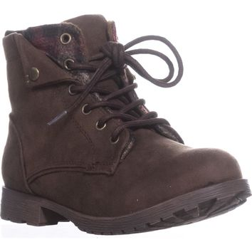 Rock & Candy Tavin Fashion Hiking Boots, Brown/Red, 10 US