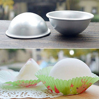 New Ball Stainless Steel Sphere Bath Bomb Cake Pan Baking Mold Pastry Mould 1Pcs