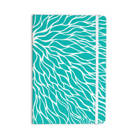 "NL Designs ""Swirls Tiffany"" Teal White Everything Notebook"