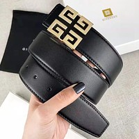 Givenchy New fashion pattern buckle couple belt Black with box