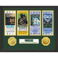 Green Bay Packers Super Bowl Ticket Collection Plaque