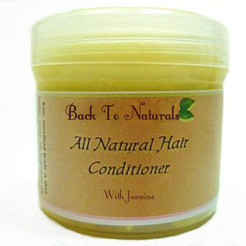 Natural Jasmine Deep Hair Conditioner - Hair Moisturizer for Black Hair Care - Whipped Body Butter - Shea Butter Curly Hair Conditioner