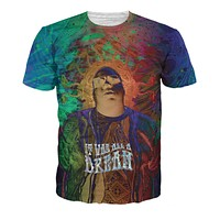 It Was All A Dream Notorious B.I.G. Biggie Smalls Juicy Hip Hop All-Over Print Sublimated Cotton Multi-Color T-Shirt
