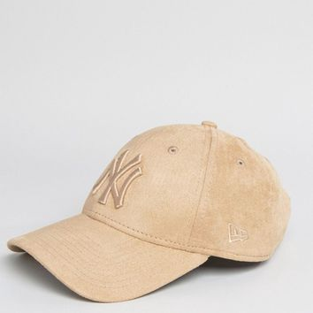 New Era Suede 9 Forty Cap in Caramel at asos.com