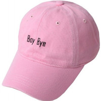 Boy Bye Beyonce Weekend Baseball Hat - Pink