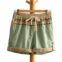 Bohemian Embroidery Shorts