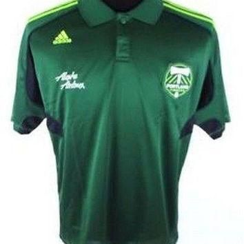 Portland Timbers MLS NWT Clima Polo Shirt Adidas Soccer new with tags Clima Cool