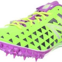 New Balance Women's WSD400 Spike Track Shoe,Green/Purple,8.5 B US