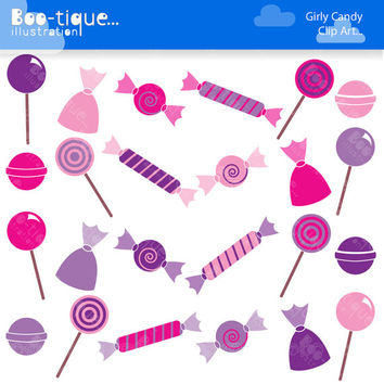 Candy Digital Clipart Set. Pink Candy Clipart. Purple Candy Clip Art. Candy Vectors. Sweets Clipart. Confectionary Clipart. Sweets Vectors.