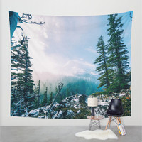 Wall Tapestry, Tree Tapestry, Wall Hanging, Mountain Trees Forest, Nature Wall Art, Large Photo Wall Art, Modern Tapestry, Home Decor