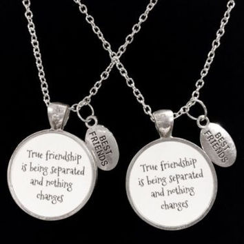 True Friendship Is Being Separated, Gift Best Friends, Necklace Set